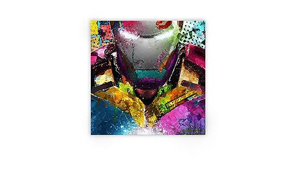 80/cm x 80/cm 31inch X 31/inch Zabarella Iron Man Supereroi Marvel Comics Avengers Tela Stampata su Telaio Pop Art Decorazione da Parete Salotto Camera Bambini