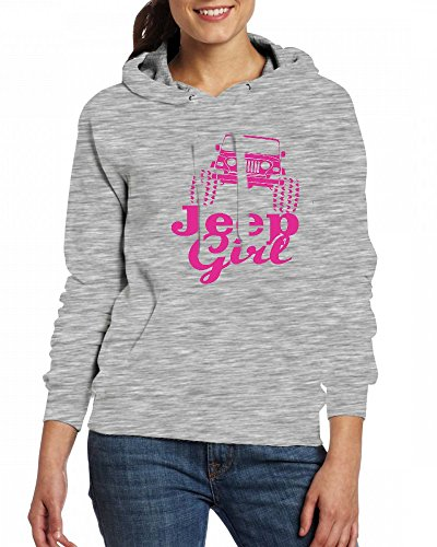 Jeep girl Womens Hoodie Fleece Custom Sweartshirts Grey