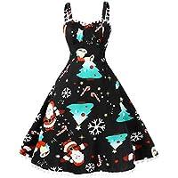 Geili Weihnachten Kleid Für Frauen Große Größen Weihnachtsmann Druck Vintage Ärmellos Schwingen Kleider Abendkleid... preisvergleich bei billige-tabletten.eu