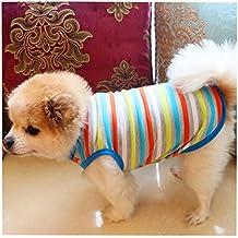 ropa perro, Sannysis gatos accesorios Ropa de abrigo perro camiseta de algodón ropa navidad pequeños