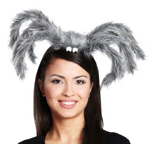 Karneval Zubehör Haarreif Spinne grau zum Damen Kostüm an Halloween