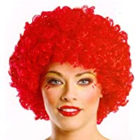 Rote Clown Perücke im Afro Look