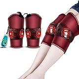 WLG Ginocchiere elettriche JJKK per tenere al caldo, moxibustione con vecchie gambe fredde compresse calde, massaggiatore a vibrazione al ginocchio,rosso,XL