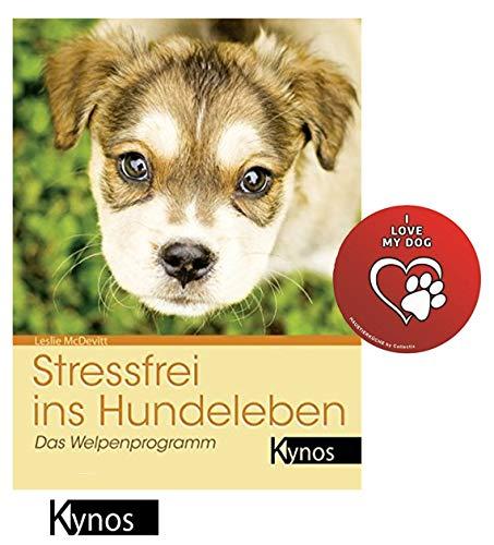 Stressfrei ins Hundeleben: Das Welpenprogramm Taschenbuch + I Love My Dog Sticker by Collectix