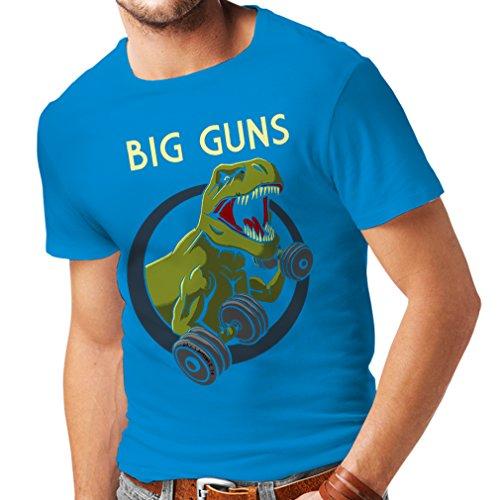 Bären Custom Schwarz T-shirt (Männer T-Shirt Trainieren Sie hart - für Gewichtheben und für Kniebeugen - Fitness, Crossfit, Gewichtsverlust (X-Large Blau Mehrfarben))