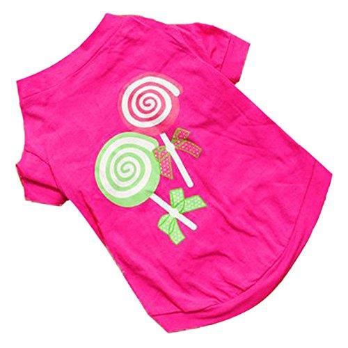irt, Hunde Sommerkleid Welpen Haustier Kleidung für Hunde Nette rosa Prinzessin Lollipop Weste (XS) ()