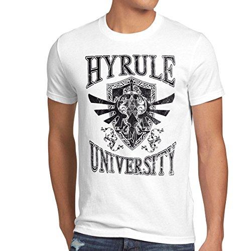 style3 University of Hyrule Herren T-Shirt, Größe:XL;Farbe:Weiß