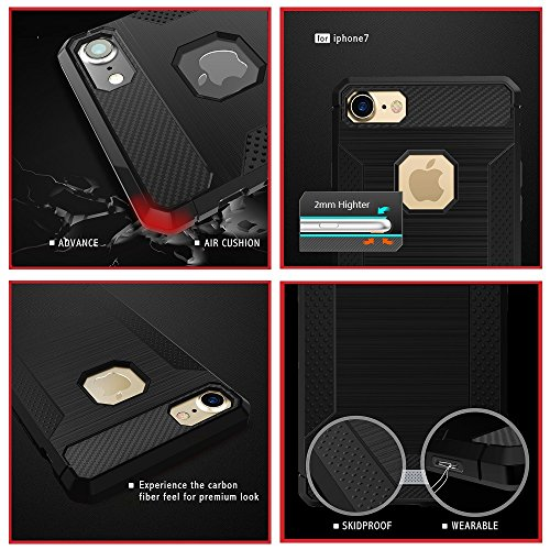 Coque Apple iPhone 7 Silicone, KATUMO Etui pour iPhone 7 Protection Transparent Gel Housse de Protection TPU Case Cover-Rouge Violet