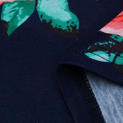 OverDose T shirt Donna Manica Lunga Stampa,16 opzioni,IT 38-48 blu_E