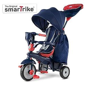 SMARTRIKE Swirl Triciclo de bebé 4 en 1, Rojo Marino, Color Navy Red (6502502)
