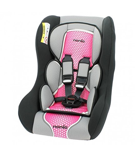 MyCarSit - Silla de coche para niños confortable Nania, de 0 a 25 kg, color rosa