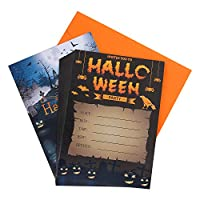 Aneco 24 Sets Halloween Party Invitations with Envelopes Halloween Costume Party Invitations Cards for Halloween Party Supplies
