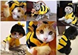 TQWY Small Bumblebee Dog Cat Puppy Halloween Clothes Pet Apparel Bumble Bee Dress Up Pet Coat Hoodie