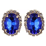 Fabula's Blue Crystal Stone Ear Stud Ear...