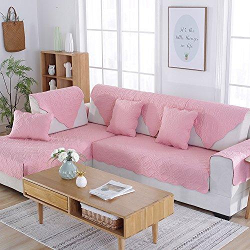 Copridivano reversibile,four seasons universal mobili protector per 1 2 3 4 cuscini divano fodera per divano a braccio divano letto protector per cane divano posti universale-rosa 110x240cm(43x94inch)