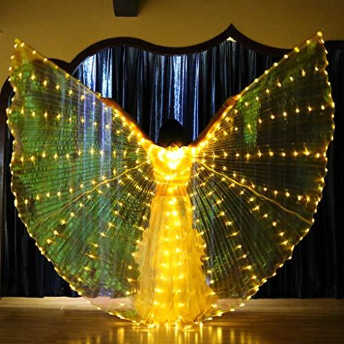 YUHUISTART FlüGel Party Belly Dance Angel Isis Wings Butterfly GlüHende With Telescopic Sticks GlüHende (Men's Cheshire Cat Kostüm)