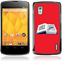 CASETOPIA / Diet Guide LOL Funny / LG Google Nexus 4 E960 / Prime Slim Case Drapeau Cover Rugged Armor Cas Coq Coquille