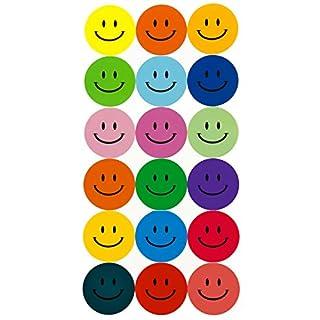 Oblique-Unique 180 Bunte Smiley Face Stickers ø 2cm - Lächlen - Freude - Belohnung