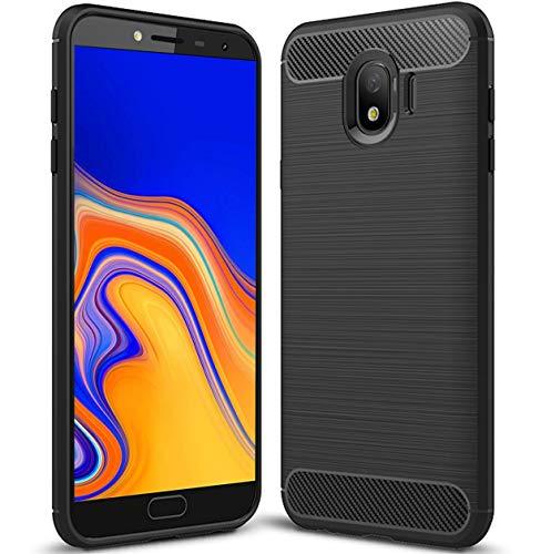 tomaxx Schutzhülle für Samsung Galaxy J4+ J4 Plus Hülle Tasche Carbon - Schwarz