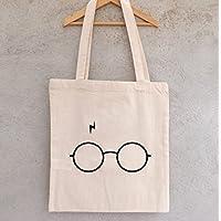 Tote bag Harry potter, lunettes et cicatrices