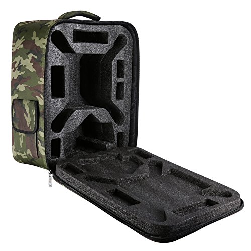Galleria fotografica Neewer multi-funzione impermeabile zaino custodia per DJI Phantom 1FC40222Vision Vision + 3, DJI 3Professional, Advanced, standard, 4K fotocamera e accessori (camouflage)