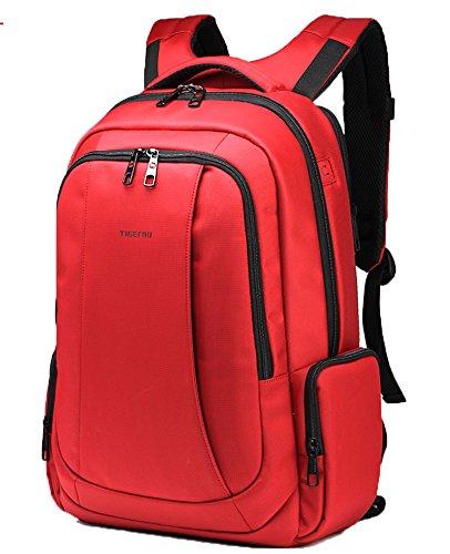 Santimon Unisex Mode Bunte Rucksäcke Wasserfest Anti-Diebstahl Schulter Taschen Große Kapazität Für Laptop Uni Im Freien Taschen Rot