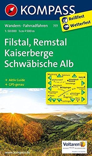 Filstal, Remstal, Kaiserberge, Schwäbische Alb: Wanderkarte mit Aktiv Guide und Radwegen. GPS-genau.1:50000 (KOMPASS-Wanderkarten, Band 777)