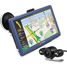 """Junsun Android Navegador GPS para Coche 7"""" Pantalla Táctil con Mapa Europea de 48 Países Gratuito de Actualizar en Toda la Vida (Camara Visión Trasera) (Azul)"""