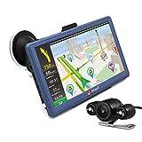 Junsun 7 Pollici GPS Navigatore Android Bluetooth WiFi Quad-Core Mappe Precaricate Dell'europa - Blu