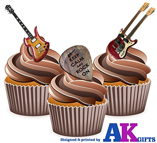 keep-calm-and-rock-on-electric-guitar-mix-cake-decorations-12-edible-wafer-cup-cake-toppers