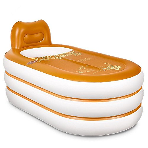 LIVY Gepolsterte Lederscheide Material aufblasbarer Whirlpool Badewanne Badewanne für Erwachsene den Lauf Bad Lauf