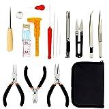 16-teiliges Professional Schmuck Werkzeug Set Schmuckzangen Set mit Reißverschlussetui für Schmuckherstellung, Schmuckgestaltung und Schmuckreparatur