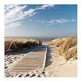 Bilderwelten Vliestapete - Ostsee Strand - Fototapete Quadrat Vlies Tapete Wandtapete Wandbild Foto 3D Fototapete, Größe HxB: 240cm x 240cm