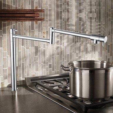 SUNNY KEY-Kitchen Sink Taps@Deck Mounted 2 Handles Single Hole Brass Pot Filler Kitchen Faucet Oil Rubbed Bronze , black