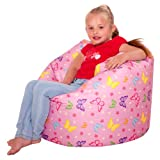 ICON Designer Butterflies Girls Bean Bag - Large Pink Kids Bean Bags