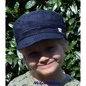 Michelmütze Breitcord nachtblau
