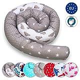 Bettschlange 210 cm Nestchenschlange für baby Bettrolle 2,10m bettumrandung Babybettschlange Himmel Muster