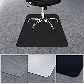 casa pura office chair mat for carpets floor protector for office and home desk chairs 100 bpa phthalate u0026 odour free black 75x120