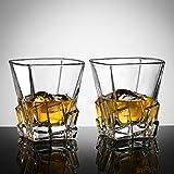 Ecooe 2 x 270ml Whiskeygläser Whisky Glas Set Whiskybecher für Scotch, Bourbon, Whiskey und Viele Getränke Mehr