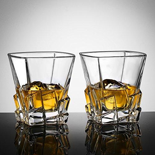 Ecooe 2 X 270ml Whiskeyglser Whisky Glas Set Whiskybecher Fr Scotch Bourbon Whiskey Und Viele Getrnke Mehr