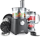 VonShef 750W Food Processor - Blender, Chopper, Juicer, Multi Mixer Combo with Dough Blade, Shredder & Grater Attachment