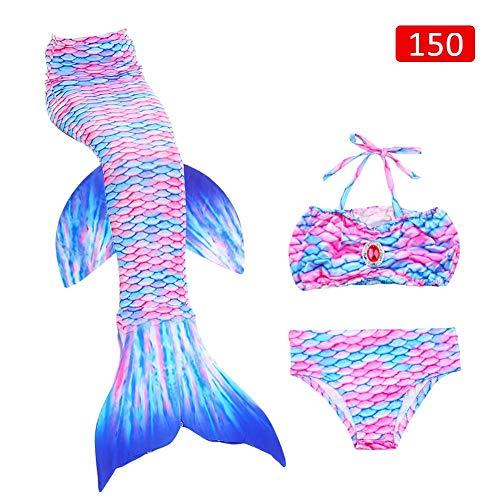 Kostüm 2 Kleine Meerjungfrau Teiliges - Luckyx Sea-Maid Bikini Mermaid Swimwear, 3-teilige Sets Für Kleine Mädchen Kinder Kind Und Frauen Mädchen Badeanzug, Meerjungfrau Schwanz Badeanzug Bademode Mädchen Kinder Meerjungfrau Schwanz