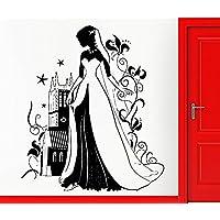 GGWW Wall Sticker Vinyl Decal Fairy From Fairytale Kingdom Decor Cinderella Dream Decor For Kids (Z2397)