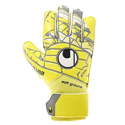 uhlsport Herren Elm Unlimited Soft Pro Torwart-Handschuhe, Lite Fluo Gelb/Griffin Gr, 10.0