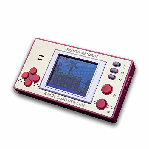 Monsterzeug 8-Bit Spielekonsole mit über 100 Spielen, Mini Videospiele, Retro Spiele, Technik Gadget
