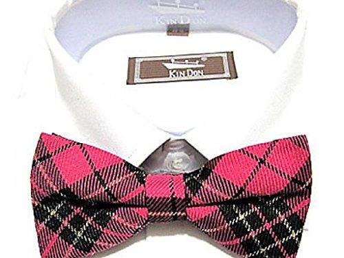 Hot Rose Fushia Tartan Royal Stewart nœud prêts associés Dickie-pour Homme et femme