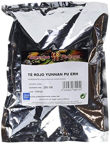 Especias Pedroza Té Rojo Yunnan Pu Erh - 2 Paquetes de 250...