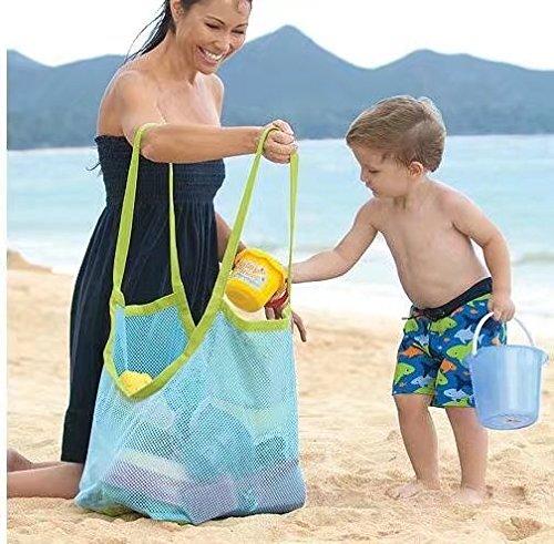 Kinder Aufbewahrungsnetz Aufbewahrung Netz Tasche für Sandspielzeug Strand Mode(Groß)