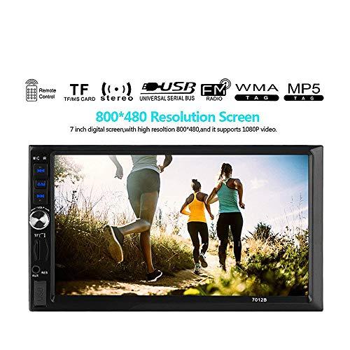 Ekada 7 pollici autoradio auto stereo mp5 lettore 2 din 1080p universale hd bluetooth mirror link touch screen telecomando interfaccia usb/tf con 720p telecamera posteriore (7012b)