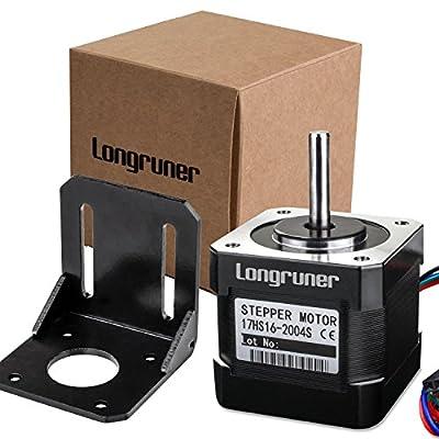 Stepper Motor Longruner Nema 17 Bipolar 38mm 64oz.in(45Ncm) 2A 4 Lead 3D Printer Hobby CNC w/ 1m Cable & Connector LQD05
